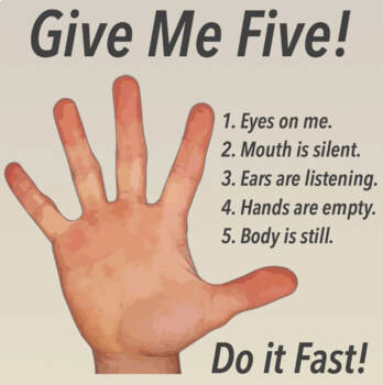 Give Me Five Classroom Management Posters 4 Pack