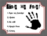 Give Me Five Classroom Poster