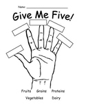 Give Me Five Food Groups Worksheet