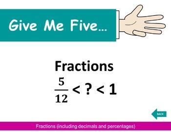 Give Me Five... Mathematics