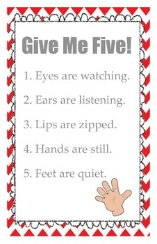 Give Me Five Poster *Freebie*