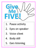 Give Me Five Poster (Pink and White Polka Dot Theme)