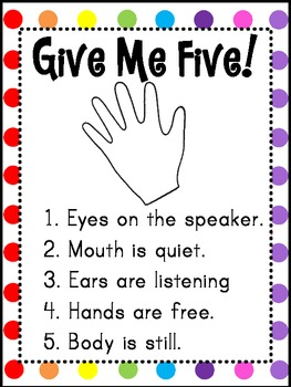 Invaluable image with regard to give me five poster printable free
