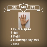 Give Me Five Poster For Getting Students' Attention
