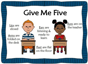 Give Me Five Poster Freebie
