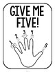 Give Me Five Quiet Signal Posters {Blackline}