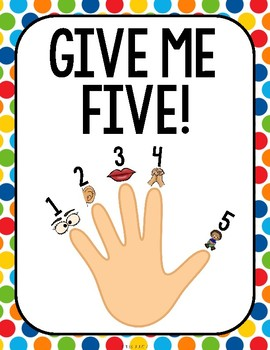 Give Me Five Quiet Signal Posters {Primary Colors} by Miss ... Quiet Signal For Teachers