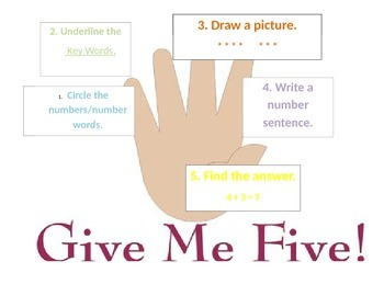 Give Me Five Word Problem Strategy