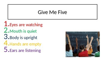 """""""Give Me Five"""" poster"""