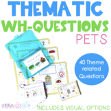 Pet Themed Wh- Question Cards for Speech Therapy