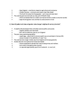 """Give Me Liberty! Ch. 3: """"Creating Anglo-America"""" Teacher Notes"""