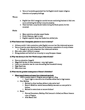 Give Me Liberty an American History: Chapter 3 Questions & Teacher Notes