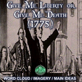 Give Me Liberty or Give Me Death - Word Cloud / Imagery /