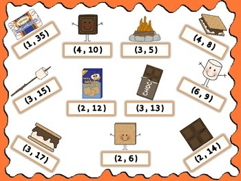 """4.OA.4 Give Me """"S'more"""" Factor Pairs BUMP Game"""