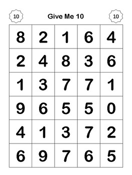 Give Me Ten Addition Practice