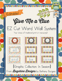 """""""Give Me a Clue"""" EZ Cut Word Wall System {In Session}"""