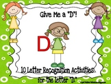 Alphabet! 10 (Letter D) Alphabet Recognition Activities