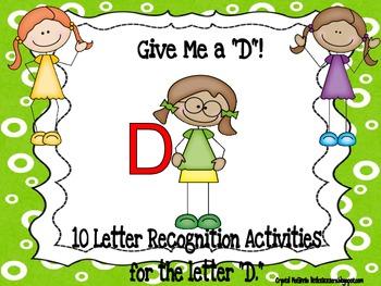 Alphabet! 10 (Letter D) Alphabet Recognition Activities