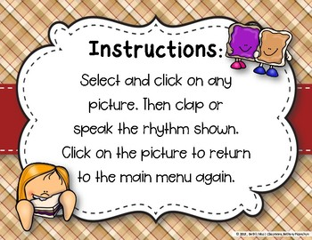 Peanut Butter & Jelly Sandwich Rhythm Reading Game - ta ti-ti