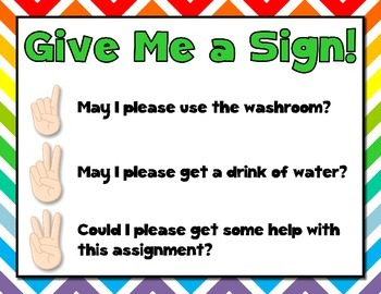 Give Me a Sign! ~ Classroom Management Freebie