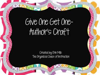 Give One Get One-Author's Craft