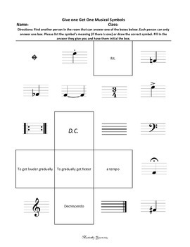 Give One Get One Musical Symbols