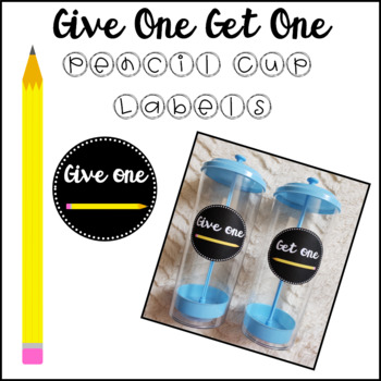 Give One Get One Pencil Cup Labels