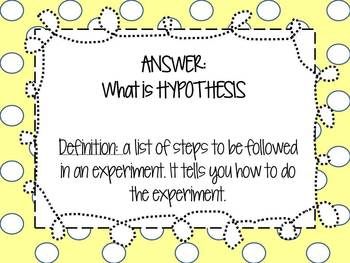 Give One Get One: The Scientific Method