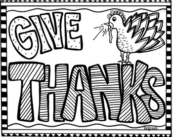 Give Thanks Coloring sheet