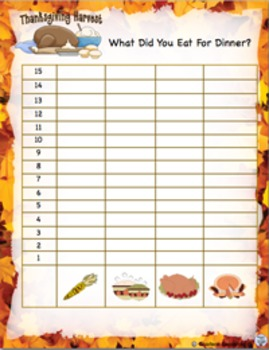 Give Thanks Math and Language Activities