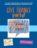 Give Thanks Party Theme Day Plan