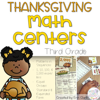 Give Thanks & Pass The MATH! {Thanksgiving Math Centers fo