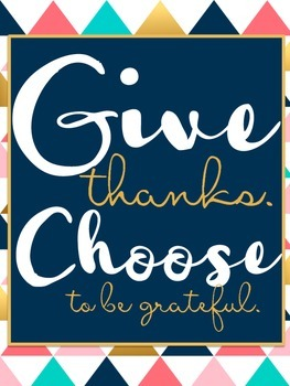 Give Thanks- {Thanksgiving Sign for School or Home}