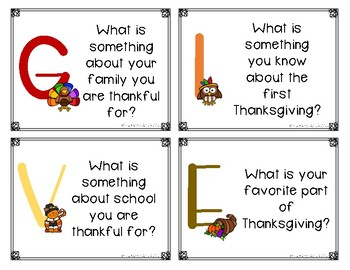 Give Thanks Task Cards