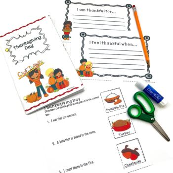 Thanksgiving Speech Language Activity Book