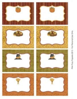Give Thanks Thanksgiving Classroom Decor Bin Tag Labels