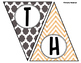 Give Thanks - Thanksgiving Quatrefoil and Chevron Banner /