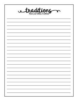 Give Thanks Writing Pages FREEBIE!