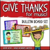 Give Thanks for Music - Fall-themed Music Advocacy Bulletin Board
