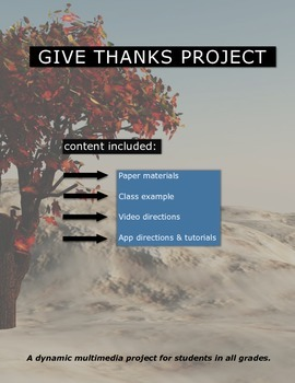 Give Thanks (iPad Classroom Project)