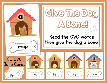 Give The Dog A Bone - A CVC Word Read and Sort Activity