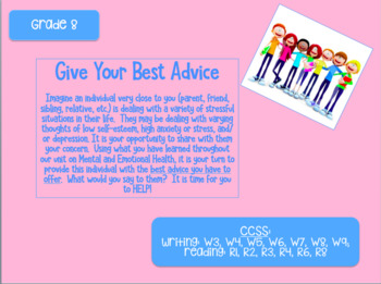 Give Your Best Advice 8th Grade Project