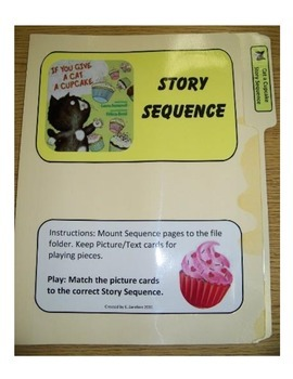 Give a Cat a Cupcake Story Sequence--file folder