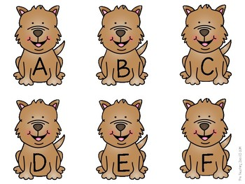 Give a Dog a Bone!  Alphabet Uppercase & Lowercase Matching - A to Z