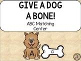 Give a Dog a Bone!  Alphabet Uppercase & Lowercase Matchin