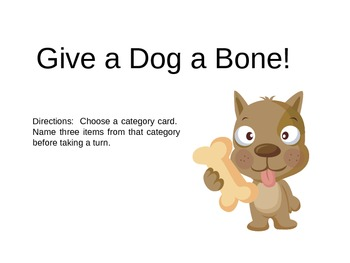 Give a Dog a Bone Category Game Freebie!