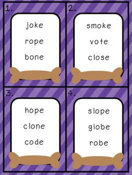 Give a Dog a Bone: Long o Literacy Centers