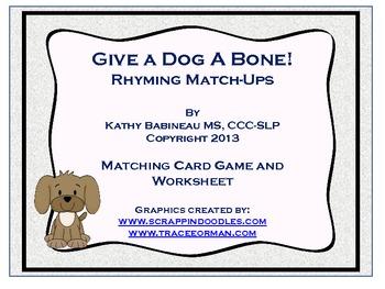 Give a Dog a Bone Rhyming Match-ups!