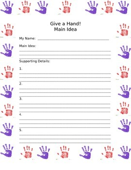 Give a Hand - Main Idea Compliments