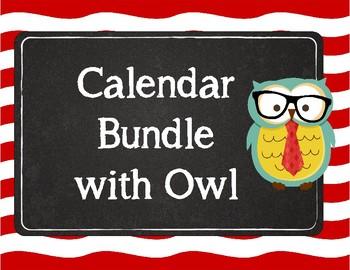 Give a Hoot! Owl Calendar Interactive Bulletin Board